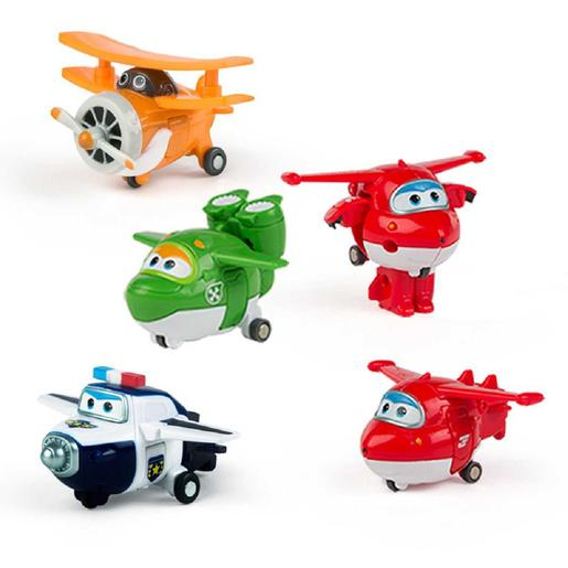 Super Wings - Mira, Jett, Paul, Grand Albert - Pack 4 Transform-a-Bots
