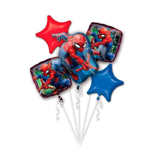 Spider-Man - Pack 5 Globos Bouquet