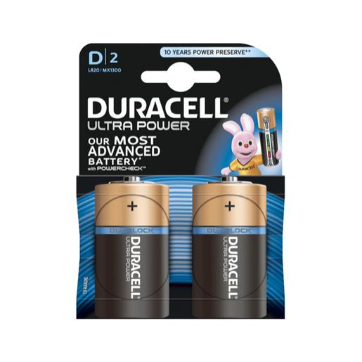 Duracell - Pack 2 Pilas D Ultra Power