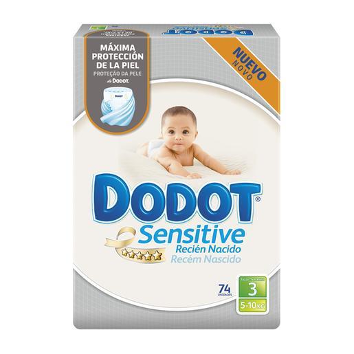 Dodot - Pañales Dodot Sensitive Recién Nacido T3 (5-10 kg) 74 Unidades