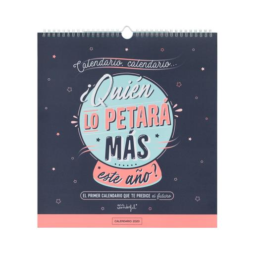 Mr. Wonderful - El Primer Calendario que te Predice el Futuro - Calendario De Pared 2020