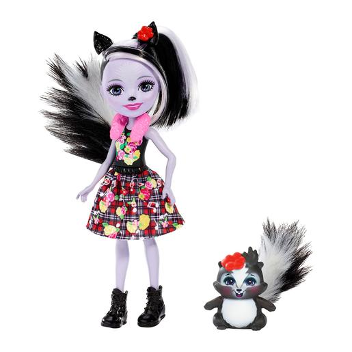Enchantimals - Muñeca con Mascota - Sage Skunk y Caper