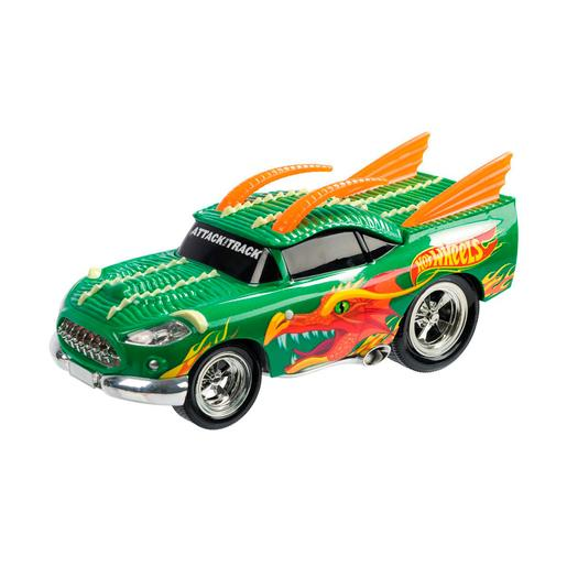 Hot Wheels - Coche Dragón Radiocontrol con Luces y Sonidos