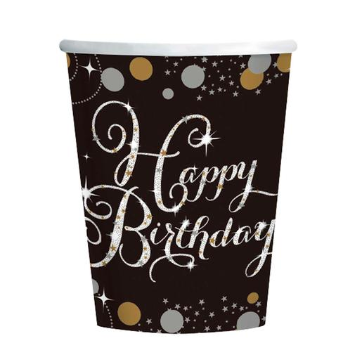 Pack 8 Vasos Happy Birthday