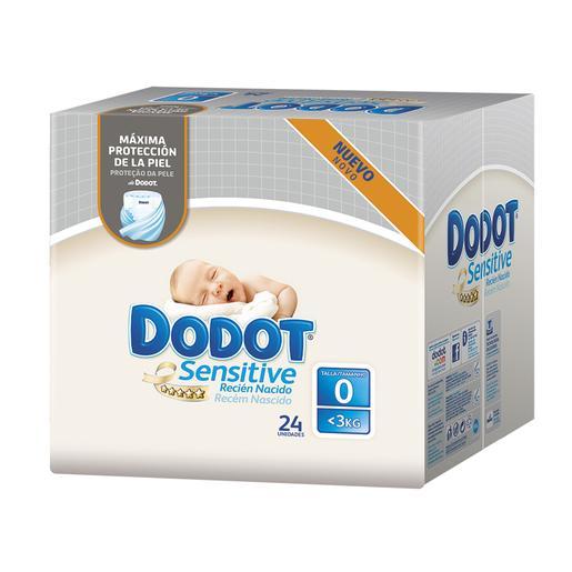 foto Dodot - Pañales Sensitive Recién Nacido T0 (1.5-2.5 kg) 24 unidades.