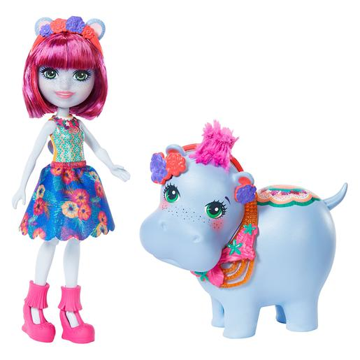 Enchantimals - Muñeca Hedda Hippo con Mascota