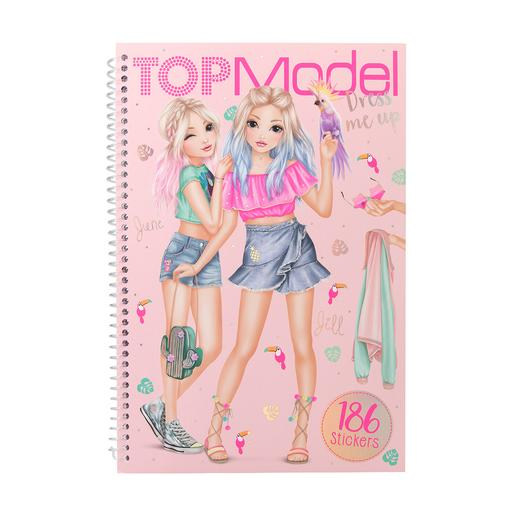 Top Model - Cuaderno de Pegatinas Dress Me Up Tropical