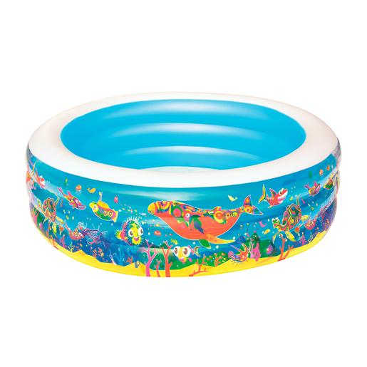 Bestway - Piscina 3 Anillos Inflables 196 x 53 cm