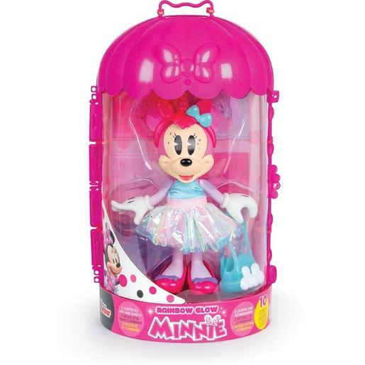 Minnie Mouse - Muñeca Minnie Fashion Rainbow Glow