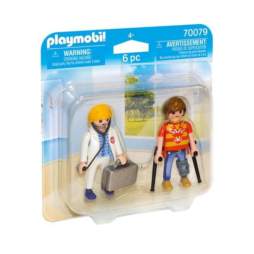 Playmobil - Dúo Pack Doctora y Paciente - 70079