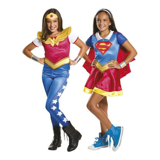 DC Super Hero Girls - Disfraz Infantil Supergirls y Wonder Woman 3-4 años