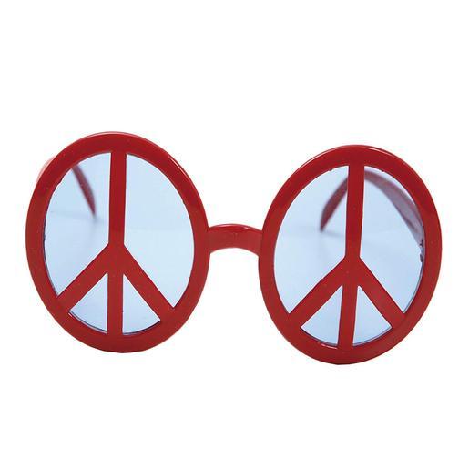 Gafas Rojas con Símbolo de la Paz