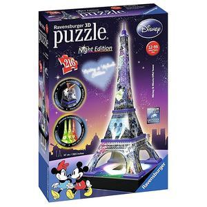 Ravensburger – Puzzle Torre Eiffel Disney Night Edition