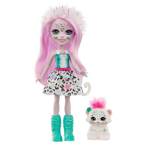 Enchantimals - Muñeca Sybill Snow Leopard con Mascota