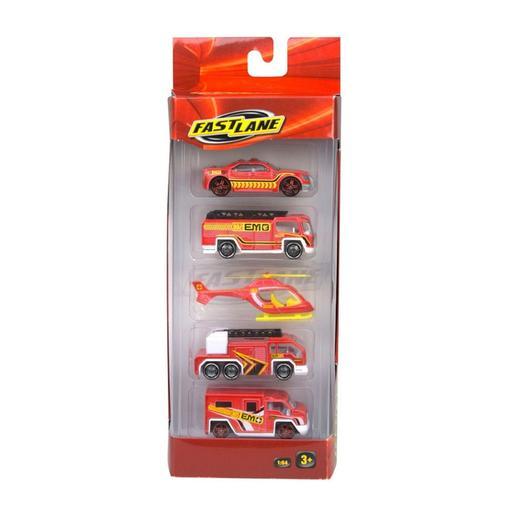 Fast Lane - Pack 5 Vehículos de Emergencia (varios modelos)