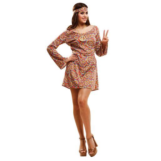 Disfraz Adulto - Hippie Psicodélica M-L