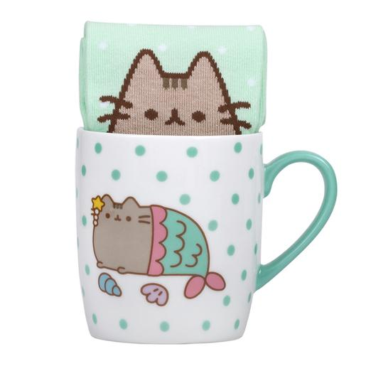 Pusheen - Set Taza y Calcetines Mermaid Pusheen