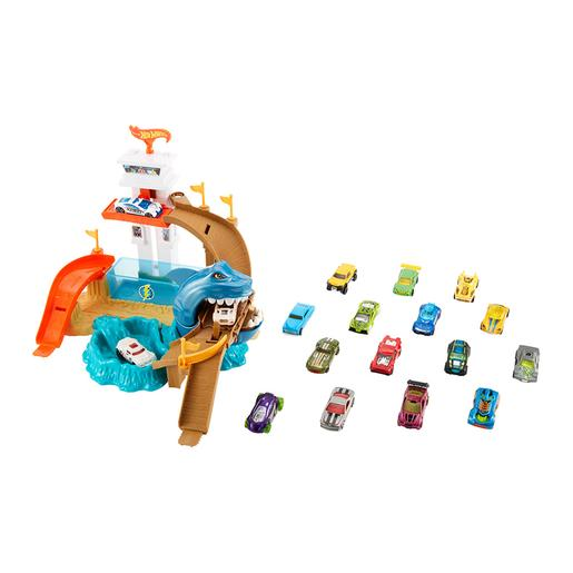 Hot Wheels - Súper pack pista Tiburón devorador