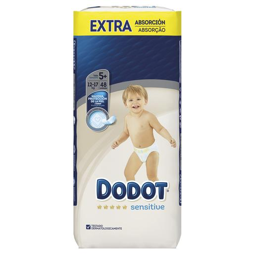 Dodot - Pañales Sensitive Extra T5+ (12-17 kg) 48 Unidades