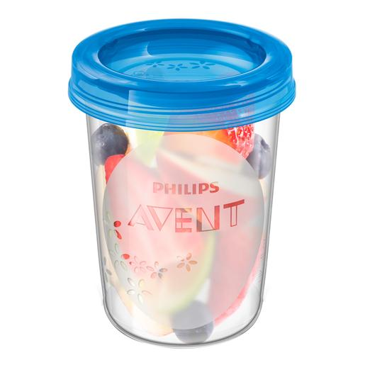 Philips Avent - 5 Recipientes con Tapa 240 ml