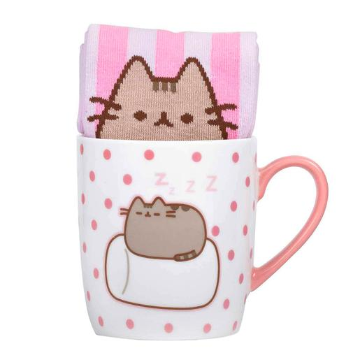 Pusheen - Set Taza y Calcetines Marshmallow