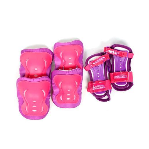 Set de Protecciones Skate Rosa y Morado