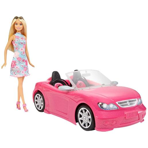Barbie - Muñeca Barbie y su coche descapotable