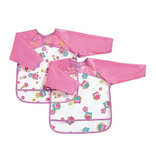 Babies R Us - Pack Rosa 2 Baberos con Mangas