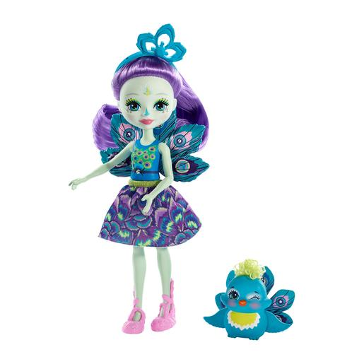 Enchantimals - Muñeca con Mascota - Patter Peacock y Flap
