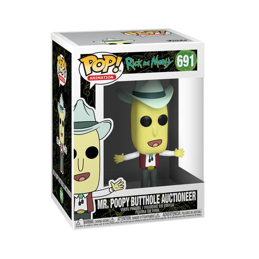 Rick y Morty - Mr. Poopy Butthole Subastador - Figura Funko POP