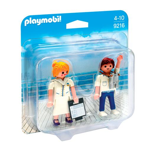 Playmobil - Duo Pack Azafata y Piloto - 9216