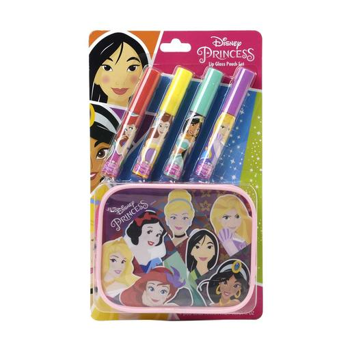 Princesas Disney - Set de lip gloss con estuche