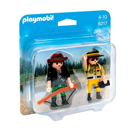 Playmobil - Duo Pack Ranger y Cazador Furtivo - 9217