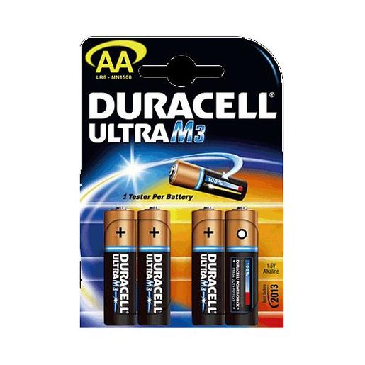 Duracell - 4 Pilas Duracell Ultra AA M3