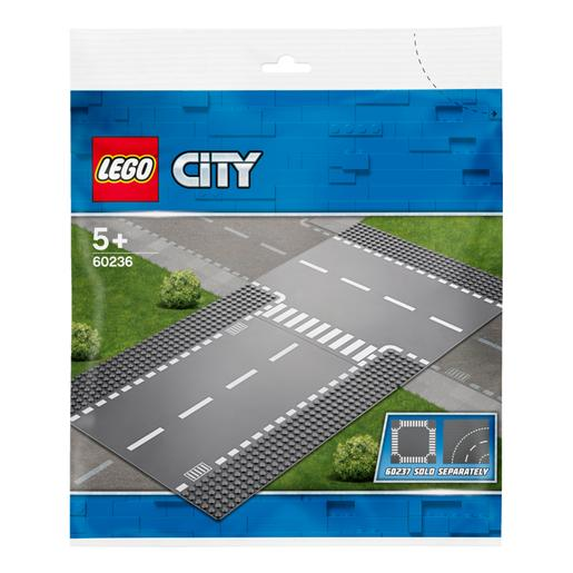 LEGO City - Rectas e Intersección en T - 60236