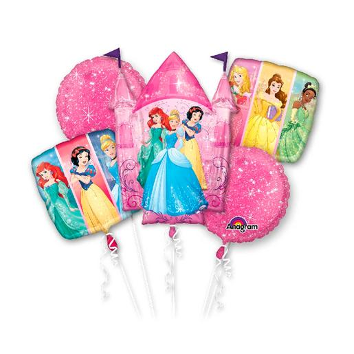 Princesas Disney - Pack 5 Globos Bouquet Princesas