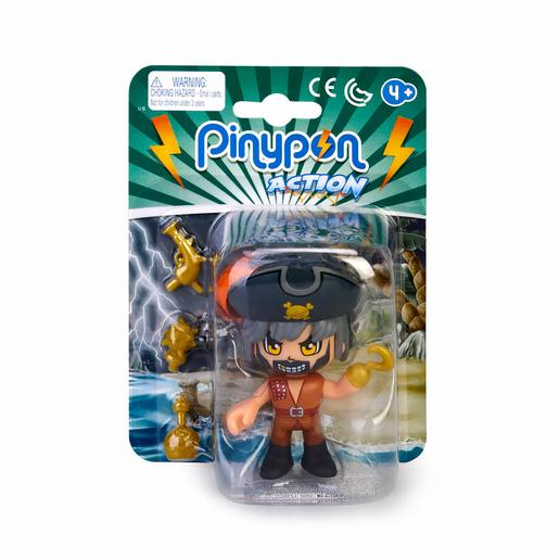 Pinypon - Pirata Pelo Gris - Figura Pinypon Action