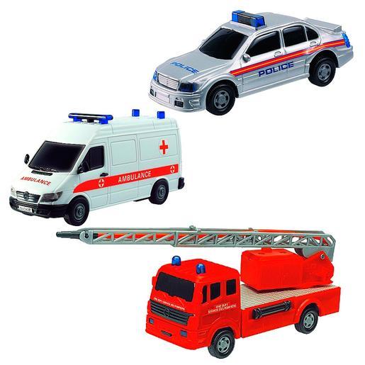 Fast Lane - Pack 3 Coches de Emergencias