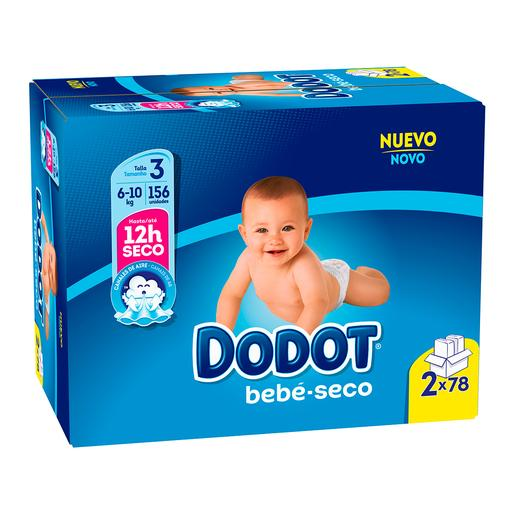 Dodot - Pack XL Pañales T3 (6-10 kg) 156 Unidades