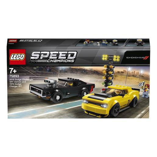 LEGO Speed Champions - Dodge Challenger SRT Demon de 2018 y Dodge Charger R/T de 1970