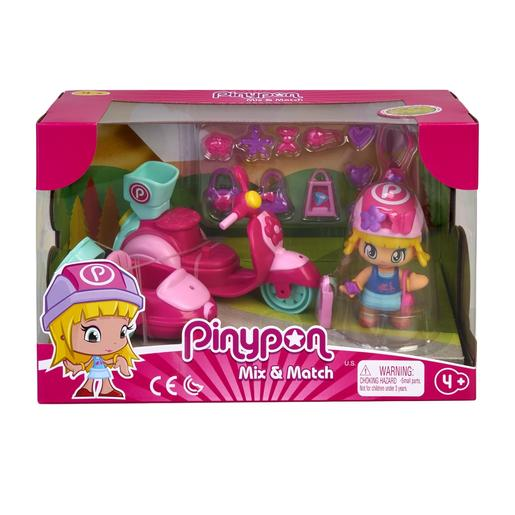 Pinypon - Pack Figura y Moto con Sidecar