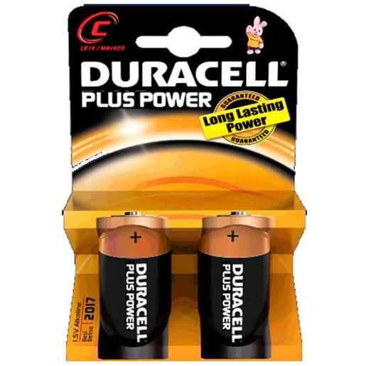 Duracell - Pilas Duracell Plus tipo C (LR-14)