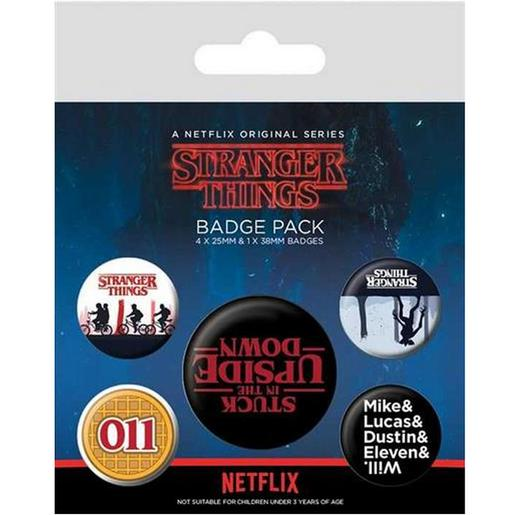 Stranger Things - Pack de 5 Chapas Upside Down
