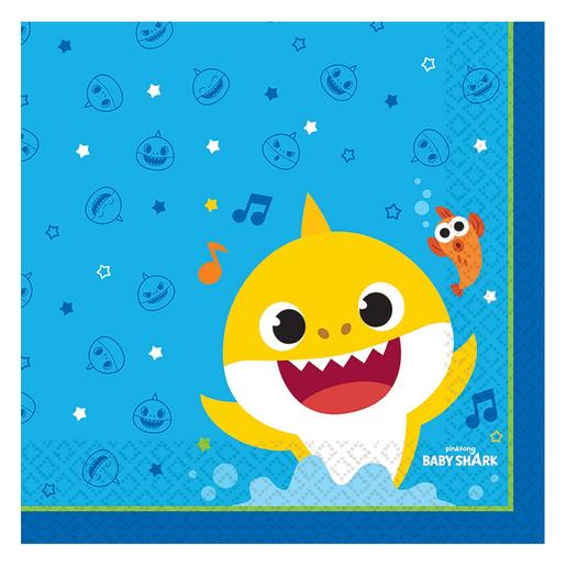 Baby Shark - Pack 16 Servilletas Medianas