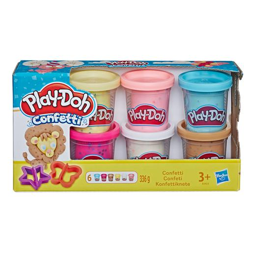 Play-Doh - Pack 6 Botes Confetti