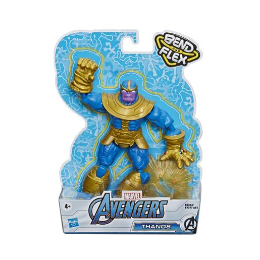 Los Vengadores - Figura Bend and Flex Thanos 15 cm