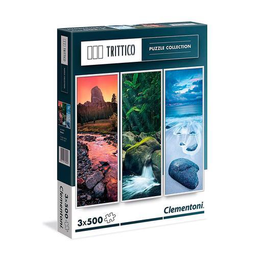 Puzzle Trittico 3x500 Piezas - Naturaleza