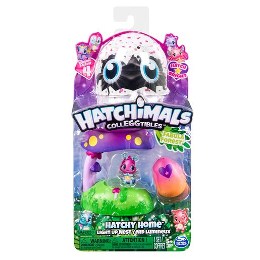 Hatchimals casa nido con luz bosque fabula