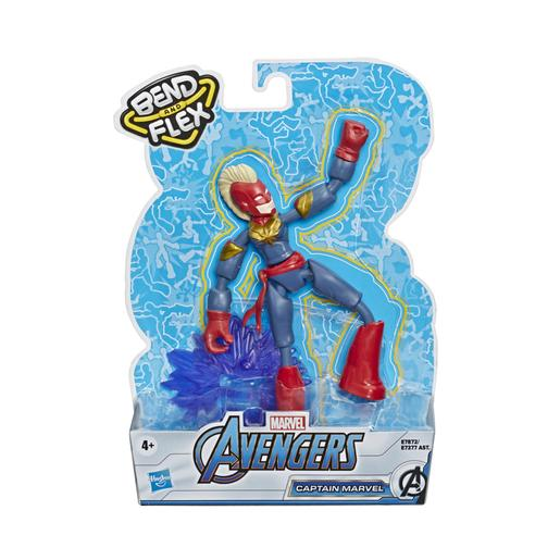 Los Vengadores - Figura Bend and Flex Capitana Marvel 15 cm