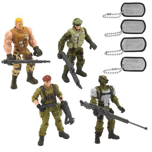 True Heroes - Pack 4 Figuras Soldados